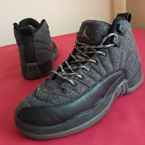 new product fe592 7f9db Nike Shoes - Nike Air Jordan 12 Retro Wool BY Grey Size 4Y